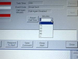 Bob's supervisor gives him an extension using the Reset Call Time menu