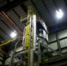 40' drop bottom furnace