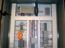 Lift station panel internal
