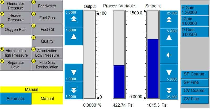 FlexStream Main Process Control